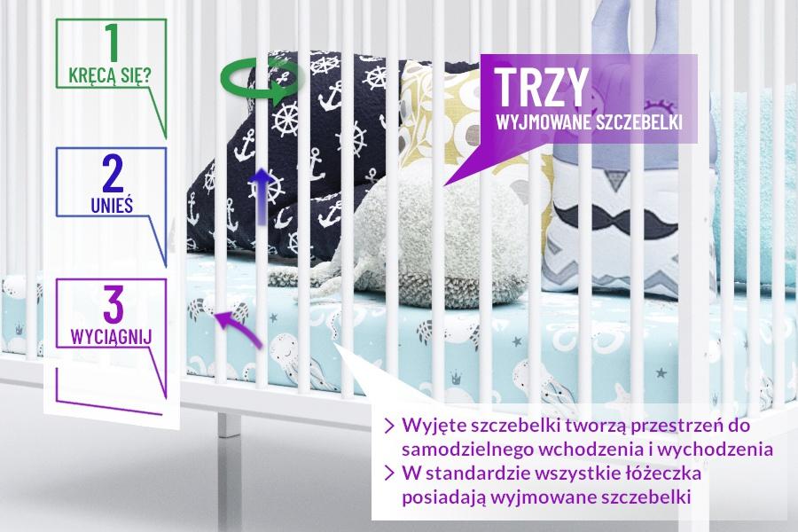 Łóżeczko Piętrus Alek