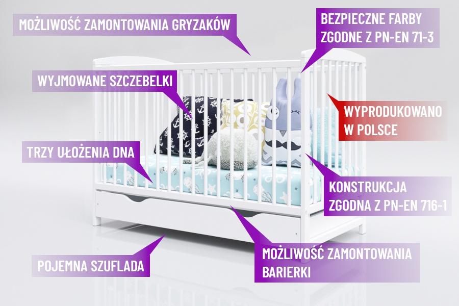 Łóżeczko Piętrus Kacper