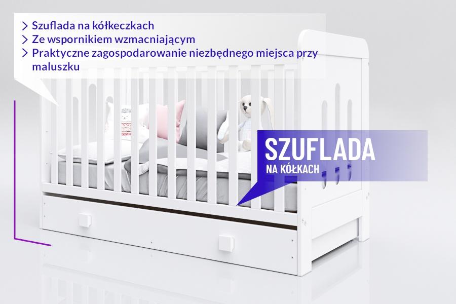 Łóżeczko Piętrus Zuza